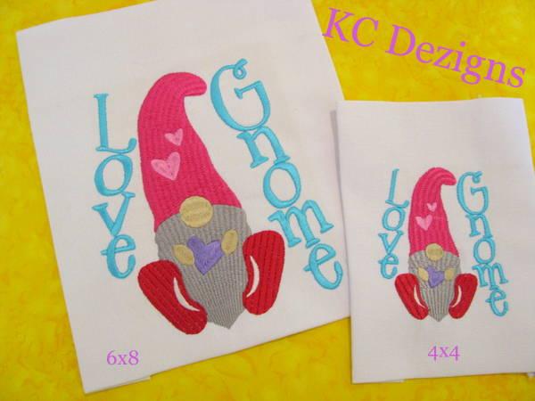 Love Gnome Embroidery