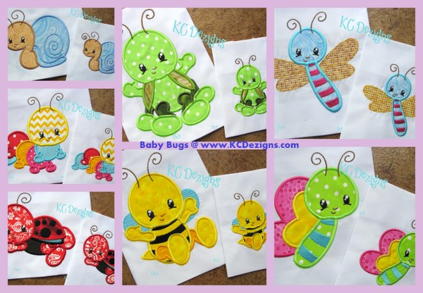 Baby Bugs Full Set Applique