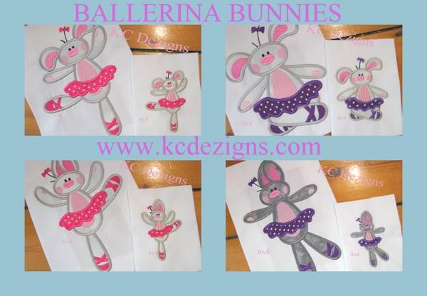 Bunny Ballerina Full Set Applique