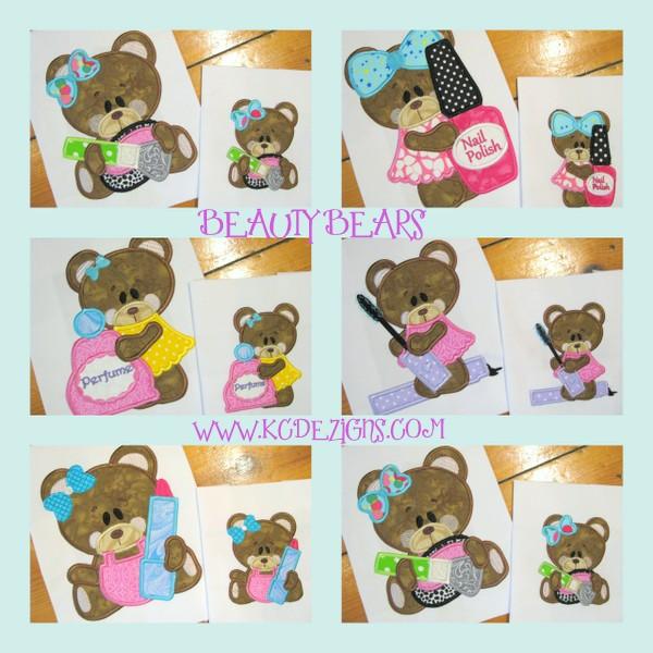 Beauty Bear 1-5 Applique