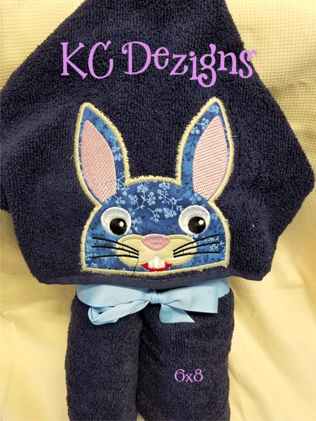 Bunny Hooded Towel Machine Applique Embroidery Design Kc Dezigns