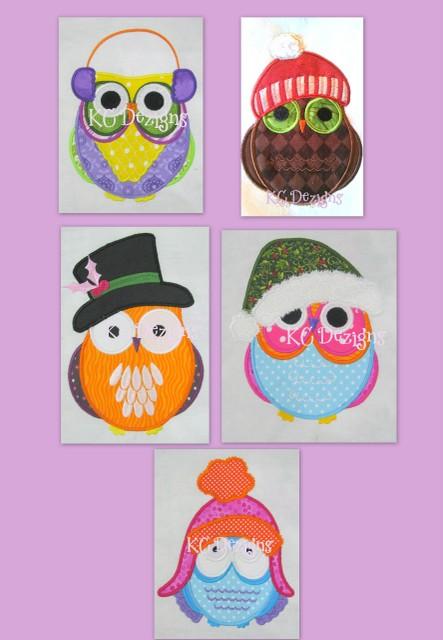 Christmas Owls Full Set Applique