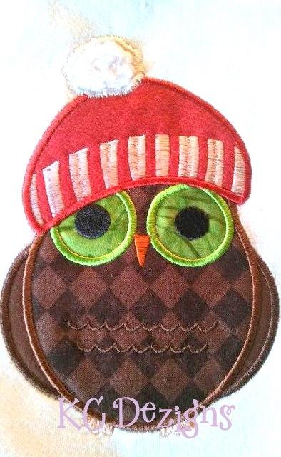Christmas Owls 02 Applique