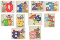 Clowning Around Bear Numbers 0-9 Applique