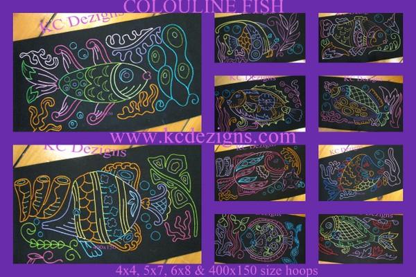 Colourline Fish Full Set Embroidery