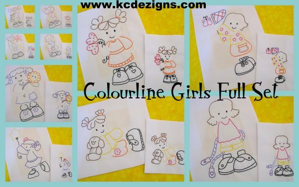 Colourline Girls Full Set Machine Embroidery