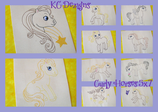 Curly Horses Embroidery Set
