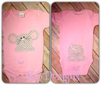 Front and Back Mouse Applique