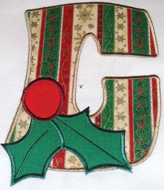 Christmas Holly C Applique