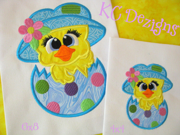 Easter Chick Critter Applique