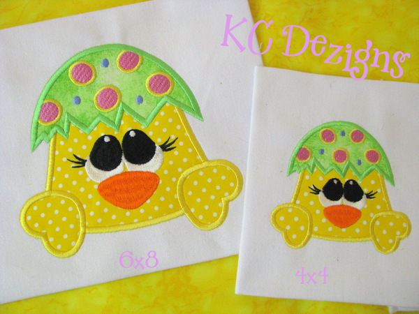 Easter Chick Critter A Applique
