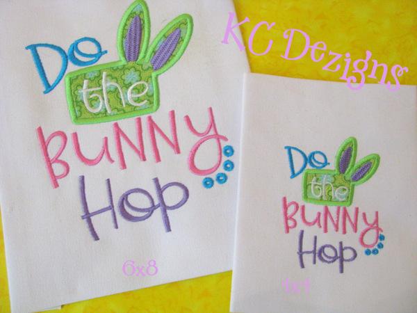 Do The Bunny Hop Applique