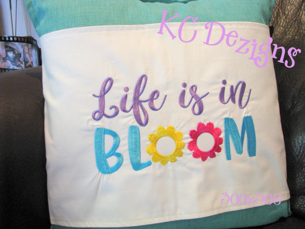 Life Is In Bloom Embroidery