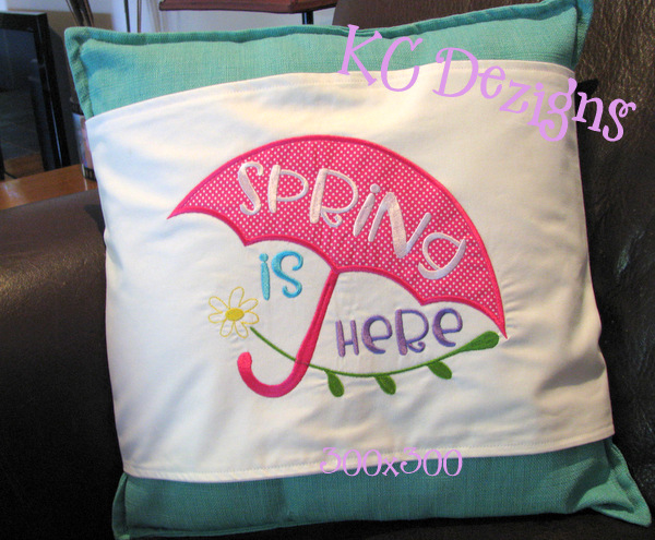 Spring Is Here Applique