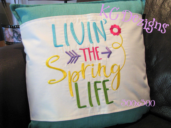 Living The Spring Life Embroidery