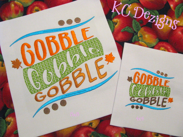 Gobble Gobble Gobble Embroidery