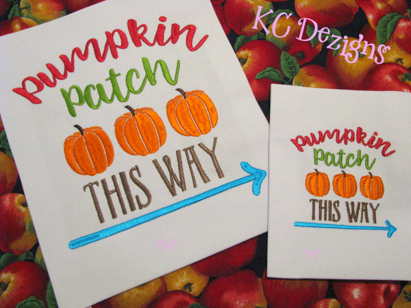 Pumpkin Patch This Way Embroidery