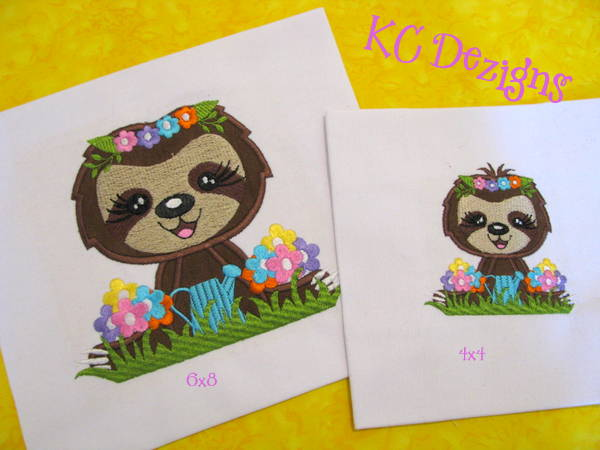 Spring Sloth In Garden