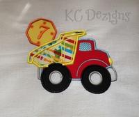 Construction Truck No 7 Applique