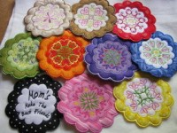 ITH Floral Coaster