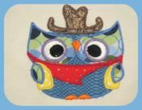 Cowboy Owl Applique