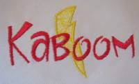Kaboom Applique