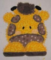 African Giraffe Front Applique