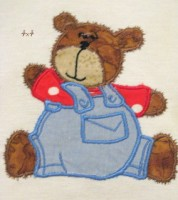Bear Boy With Dungarees Applique