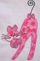 Swirly Kitties 07 Applique