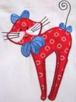 Swirly Kitties 04 Applique