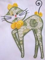 Swirly Kitties 03 Applique