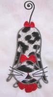 Swirly Kitties 09 Applique