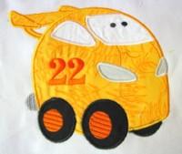 Fun Applique Cars 01
