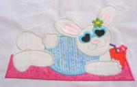 Beach Bunny 01 Applique