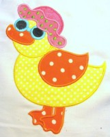 Beach Duck Applique