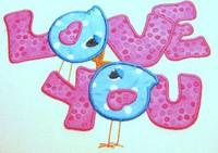 Love Birds 06 Applique