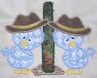 Cowboy Chicks 01 Applique