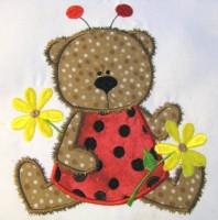 Ladybug Bear 02 Applique