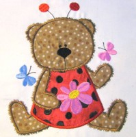 Ladybug Bear 03 Applique