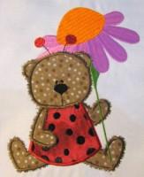 Ladybug Bear 04 Applique