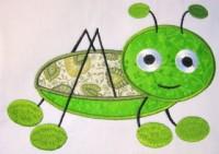 Cute Crawling Bug 03 Applique