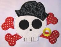 Pirate Skull 01 Applique