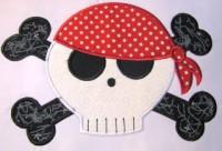Pirate Skull 02 Applique
