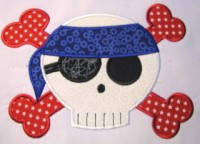 Pirate Skull 03 Applique