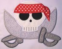 Pirate Skull 05 Applique