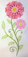 Vintage Flower 01 Filled