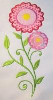 Vintage Flower 01 Applique