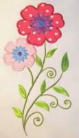 Vintage Flower 02 Applique