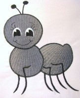Picnic Ant Embroidery