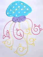 Curly Jellyfish Applique